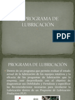 Programa de Lubricacion