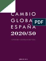 Informe Cambio Global Consumo CRIC