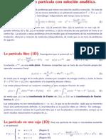 Problemas de una part´ıcula con solucion anal´ıtica. FQ2