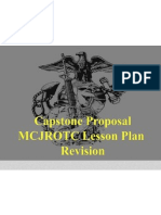 final capstone presentation mcjrotc lesson plan revision