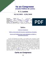 Carta Ao Congresso - Lenin