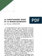 Esprit 6 - 7 - 193303 - Berdiaeff, Nicolas - Le Christianisme Russe Et Le Monde Bourgeois