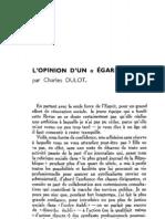 Esprit 6 - 8 - 193303 - Dulot, Charles - L'Opinion d'un égaré