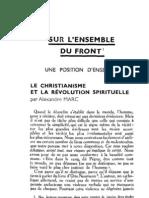 Esprit 6 - 10 - 193303 - Marc, Alexandre - Le Christianisme et la révolution spirituelle