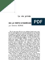 Esprit 6 - 12 - 193303 - Borne, Étienne - De la vertu d'insécurité