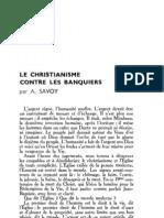Esprit 6 - 15 - 193303 - Savoy, A. - Le Christianisme Contre Les Banquiers