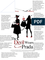 Film Poster Analysis Devil Wears Prada
