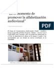 El Momento para la Alfabetización Audiovisual