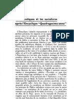 Esprit 6 - 24 - 193303 - Traval, Pierre - Les catholiques et les socialistes après l'encyclique Quadragesimo anno