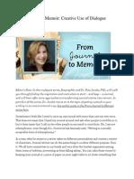 From Journal to Memoir