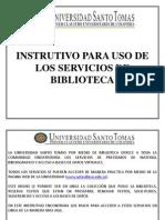 Instrutivo Para Uso de Los Servicios de Biblioteca