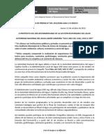 BOLETÍN DE PRENSA 041-2012