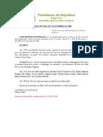 Decreto 6558 - Horário de Verão - Set 2011