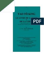 TAO TÖ KING LE LIVRE DE LA VOIE ET DE LA VERTU...par J. J.-L. DUYVENDAK