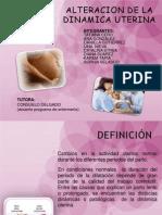 Alteraciones de la dinamica uterina