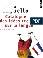 Marina Yaguello, Catalogue des idées reçues sur la langue