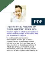 """""""Aguardamos Su Respuesta Con Mucha Esperanza"""" dice la carta de los hermanos Fujimori (Fuente"""