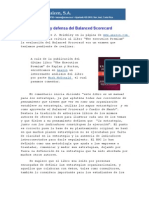 Critica y Defensa Del Balanced Scorecard