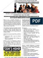 Globally Recognised Part-Time 12-Month Executive MBA