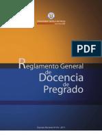 Reglamento General de Docencia de Pregrado
