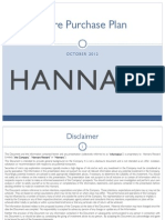 Share Purchase Plan Presentation