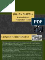 Julián Marías, raciovitalismo, personalismo vital