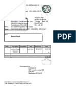 Template for Invoicing