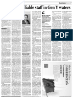 China Daily - Fishing for reliable staff in Gen Y waters