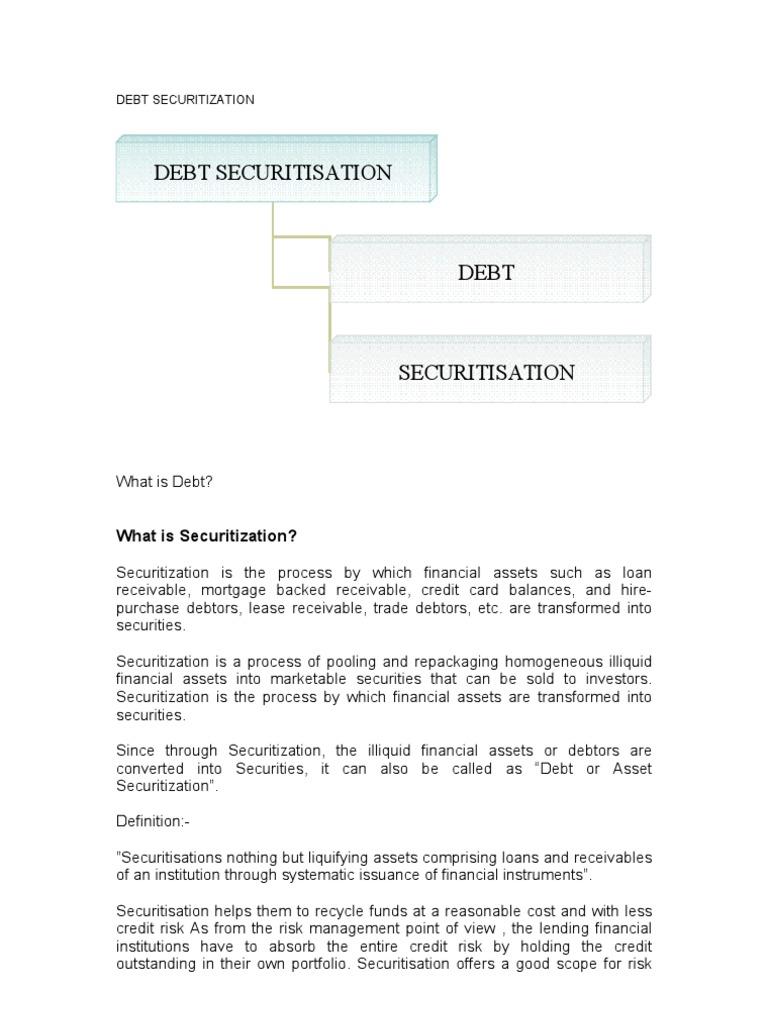 Debt Securitization by Krishna | Securitization (43 views)