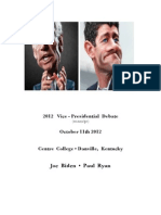 2012 Vice Presidential Debate (transcript)