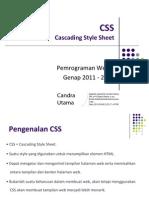 Pertemuan 5 - CSS