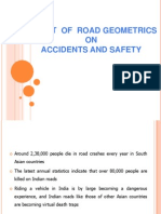 Effect of Road Geometrics on Accidents