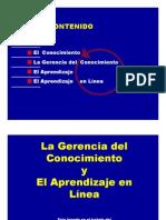 LA GERENCIA DEL CONOCIMIENTO Y EL APRENDIZAJE EN LÍNEA