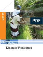 UNV in Action Disaster Response