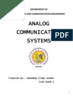 Acs_analog Communication Systems Manual