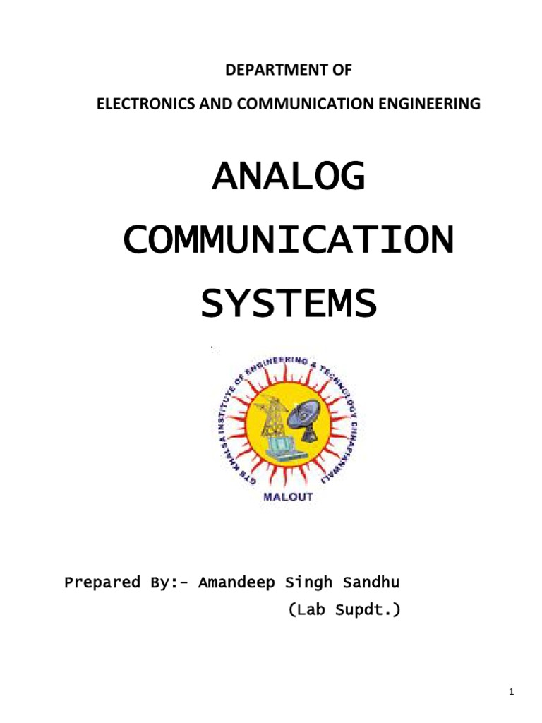 Acs Analog Communication Systems Manual Detector Radio 8038 Function Generator Circuit Automotivecircuit Diagram Frequency Modulation