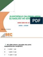 İGC-23 ELEKTRİKLE ÇALIŞMALARDA İŞ SAĞLIĞI VE GÜVENLİĞİ rev03
