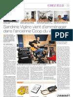 [2012-04-01] Sandrine Viglino vient d'emménager dans l'ancienne Coop du village