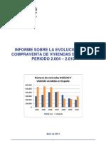 Informe Compraventa Del Total de Viviendas, Nuevas y Usadas (Periodo 2.004 - 2.010)