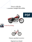 Adapted for PUMBA-How to Ride the Consumer Insight Motorbike IIM a Part1