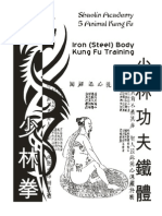 Work Book Shaolin Iron Body Kungfu Draft