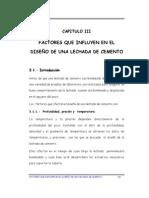 G.- CAPITULO III- Factores que influyen en el diseño de una lechada de cemento