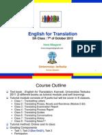 English for Translation Class5 Module6 (20121007)