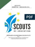 Propuesta Nuevo Estatuto Scouts de Argentina 2011