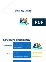 103 Essay Structure