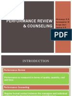 Performance Review & Counseling
