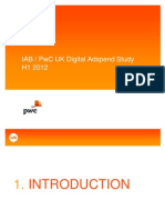 IAB / PwC UK Digital Adspend Study H1 2012