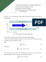 Problem Solving Series - Laminar Velocity Profile Between Infinite Parallel Plates