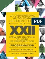 Programación XXII Feria Internacional del Libro de Monterrey 2012