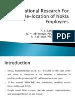 Presentation on Nokia Transportation Feasibility Study